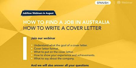 Cómo encontrar trabajo en Australia – Cómo escribir una Cover Letter boletos