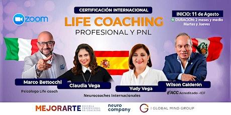 Certificación Internacional: Life Coaching Profesional y PNL boletos