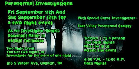 Historic Rosemont Investigation tickets