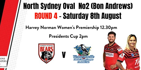 North Sydney Bears Round 4 - 8th August 2020 tickets