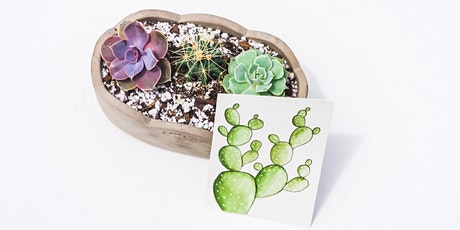 Watercolor Painting and Succulent Planting Workshop tickets