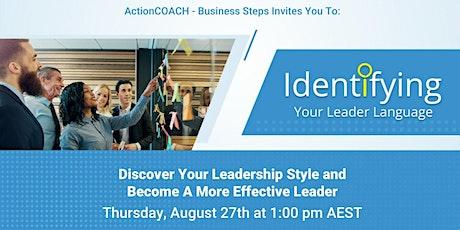 Identifying Your Leadership Language tickets