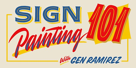 Sign Painting 101 (online workshop) tickets