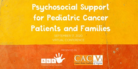 Psychosocial Support for Pediatric Cancer Patients & Families tickets