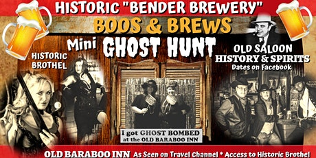 BOOS & BREWS: Mini Ghost Hunt in Historic Haunted Bar! Spooky & Fun! tickets