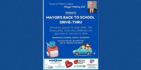 Volunteers for Mayor's Back to School Drive-Thru Event tickets