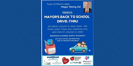 Volunteers to Set-Up Mayor's Back-to-School Drive Thru Event tickets