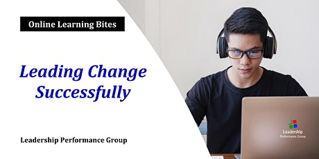 Leading Change Successfully (Online) tickets