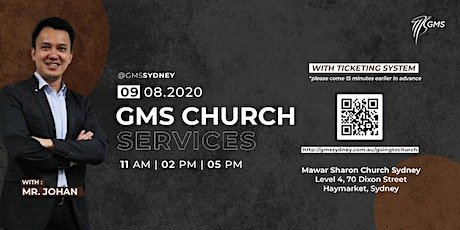Sunday Live Service 3 @ 5pm - 9 August 2020 tickets