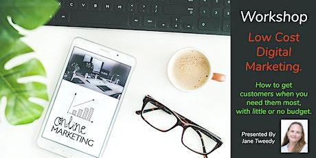 Online Workshop: Low Cost Online Marketing tickets