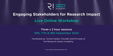 Engaging Stakeholders for Research Impact tickets