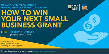 HOW TO WIN YOUR NEXT SMALL BUSINESS GRANT tickets