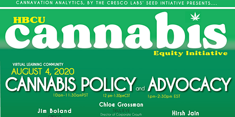 HBCU Cannabis Equity Initiative- Virtual Learning Community - Summer 2020 tickets