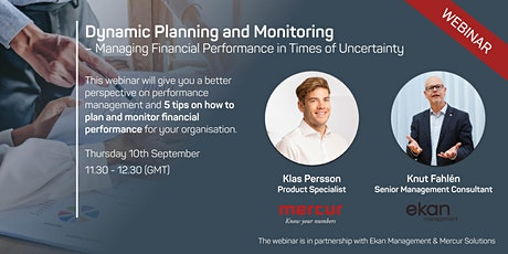 Free Live Webinar - Dynamic Planning and Monitoring tickets