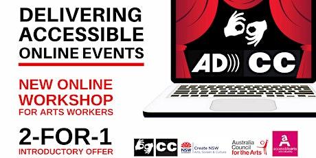Delivering Accessible Online Events Workshop 4 Nov 2020 tickets