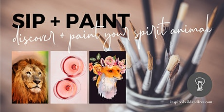 Sip & Paint ~ discover & paint your spirit animal tickets