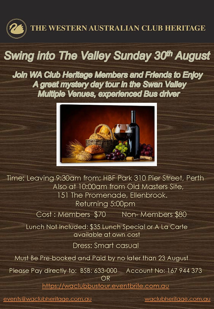 Swing into The Valley Mystery Bus Tour image