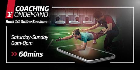 Coaching OnDemand - Sat-Sun, 8am-8pm (60mins) tickets