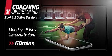 Coaching OnDemand - Mon-Fri, 12-2pm, 5-8pm (60mins) tickets