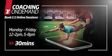 Coaching OnDemand - Mon-Fri, 12-2pm, 5-8pm (30mins) tickets