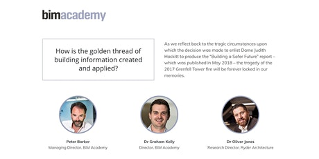 How is the golden thread of building information created and applied? tickets