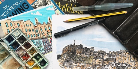 Urban sketching with Cassandra and Mark - Crowds, adding people for scale tickets