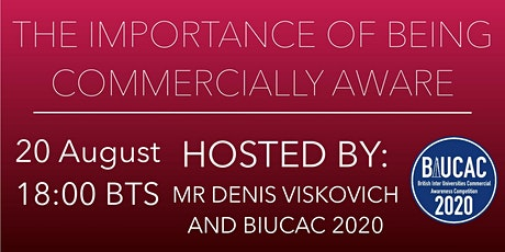 The Importance of Being Commercially Aware w/ Denis Viskovich (2nd webinar) tickets