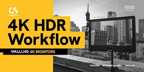 4K HDR Workflow - SmallHD 4K Monitors tickets