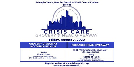 Triumph's Crisis Care Food Giveaway tickets