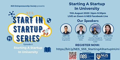 NES Start In Startup Series: Starting A Startup In University biglietti