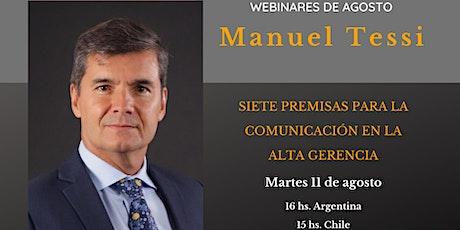 Manuel Tessi - Siete premisas para la comunicación en la alta gerencia boletos