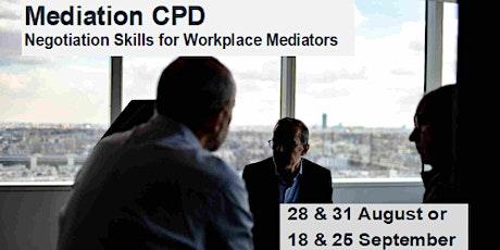 Mediation CPD: Negotiation Skills for Workplace Mediators tickets