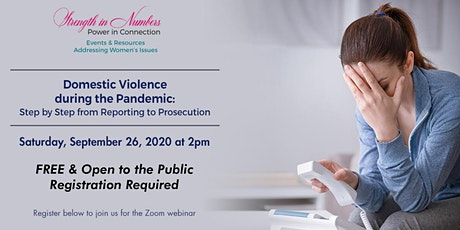 """""""Domestic Violence during the Pandemic"""" Webinar tickets"""