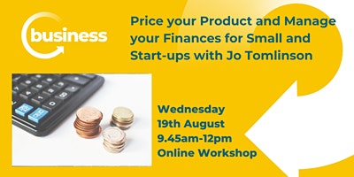 Price your Product and Manage your Finances for Small and Start-ups