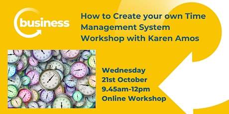 How to Create your own Time Management System Workshop tickets