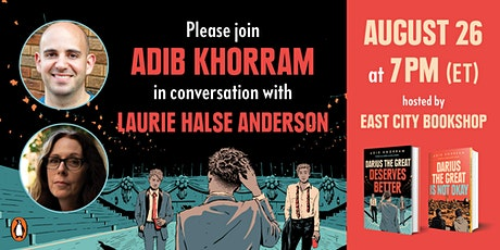 Adib Khorram, Darius the Great Deserves Better, with Laurie Halse Anderson tickets