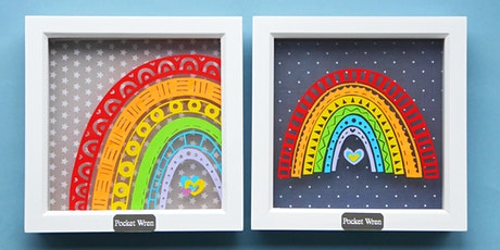 Papercut your own rainbow tickets