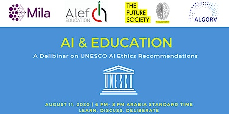 AI & Education: an online workshop for UNESCO's AI Ethics Recommendations tickets