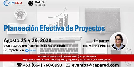 Planeación Efectiva de Proyectos entradas