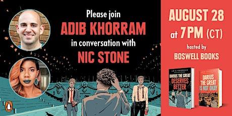 Adib Khorram in conversation with Nic Stone tickets