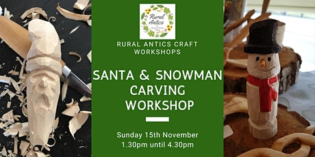 Snowman & Santa Carving Workshop tickets