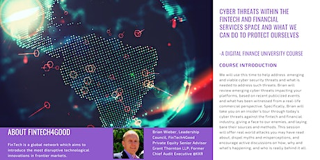 Cyber Threats within the Fintech and Financial Services Space tickets