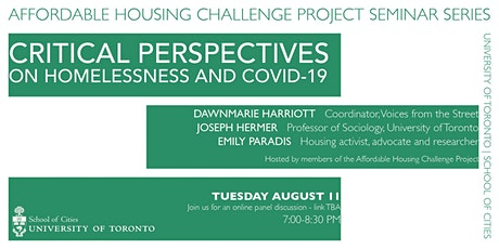 Critical Perspectives on Homelessness and Covid-19 tickets