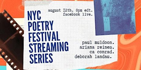 PSNY + NYCPOFEST present: Muldoon. Reines. Conrad. Landau. tickets
