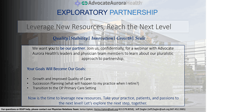 Exploratory Partnership Townhall with Advocate Aurora Health tickets