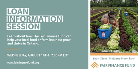 Loan Info Session:  Helping Local Food & Farm Businesses Grow & Thrive tickets