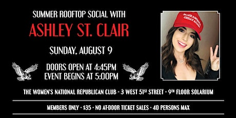 Rooftop Summer Social with Ashley St. Clair tickets