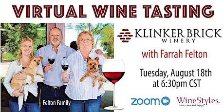 Virtual Wine Tasting: Klinker Brick Winery tickets