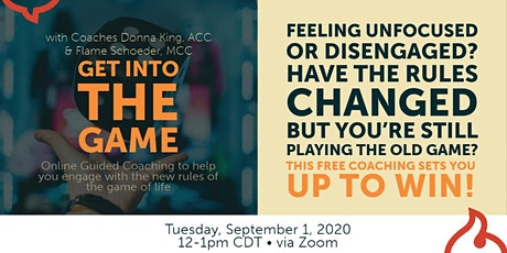 Online guided coaching: Get into the game of life! tickets
