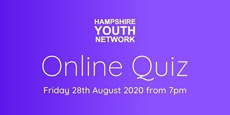 Hampshire Youth Network - Online Quiz tickets